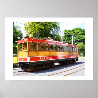 Poster Train de montagne de Snaefell