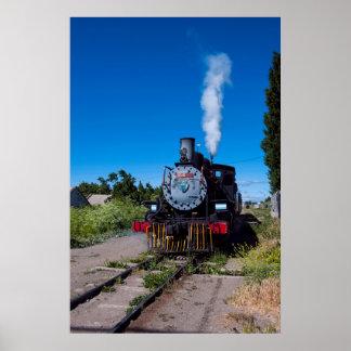 Poster Train de vapeur sur la La Trochita