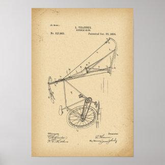 Poster Traîneau de bicyclette de 1894 brevets