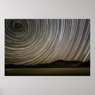 Poster Traînée d'étoile la nuit | la Californie, Death