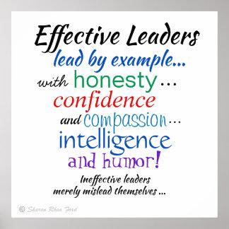 Poster Traits de caractère des Chefs efficaces par SRF