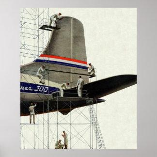 Poster Transport vintage, entretien pour des avions