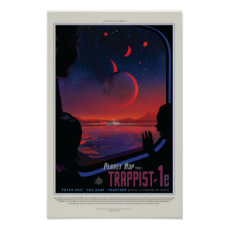 Poster TRAPPIST-1e Exoplanet