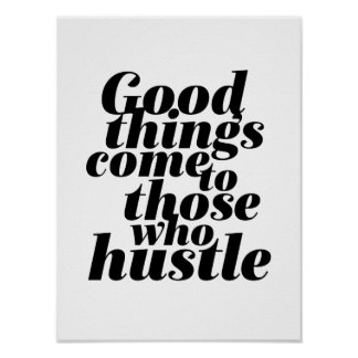 Poster Travailler de motivation de hâte d'affiche de