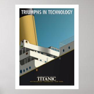 Poster TRIOMPHES EN TECHNOLOGIE - RMS Titanic