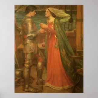 Poster Tristan et Isolde par le château d'eau, beaux-arts