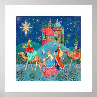 Poster Trois affiche des vacances | de Noël des rois |