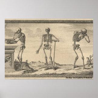 Poster Trois squelettes