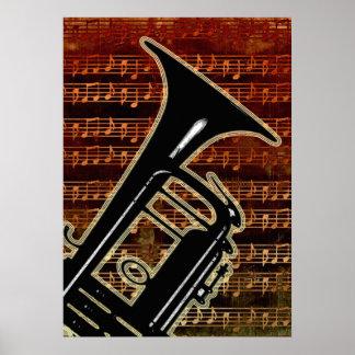 Poster Trompette chaude ID280 de tons