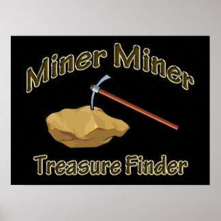 Poster Trouveur de trésor de mineur de mineur