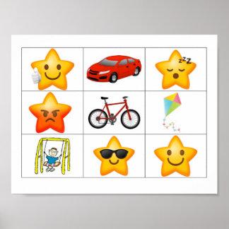 Poster Trouvez une affiche de récompense d'étoile