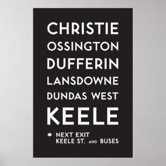 Poster TTC - Affiche de Bloor-Danforth Christie