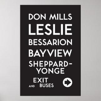 Poster TTC - Affiche de moulins de Sheppard Don