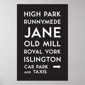 Poster TTC - Haute affiche de parc de Bloor-Danforth