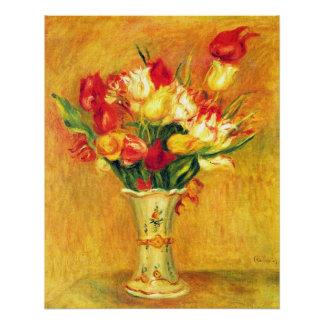 Poster Tulipes par Pierre Renoir, art vintage