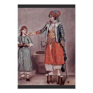 Poster ‰ Turc Tienne (B de Madame With Maid By Liotard