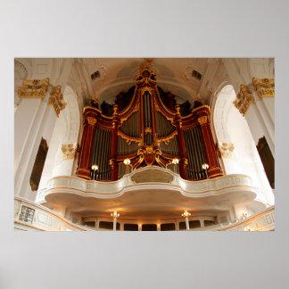 Poster Tuyaux d'organe d'église