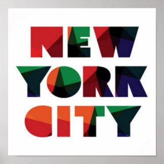 Poster Typographie audacieuse de New York City  