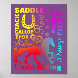 Poster Typographie d'arc-en-ciel terminologique d'amants