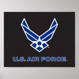 Poster U.S. Logo de l'Armée de l'Air - bleu