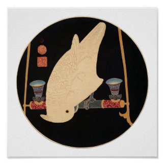 Poster Un ara blanc, Jakuchū