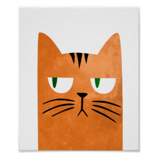 Poster Un chat orange avec une attitude