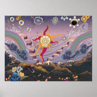 Poster Un coucher du soleil Starscape - affiche de