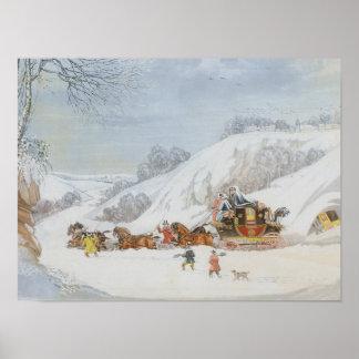 Poster Un courrier dans la neige profonde