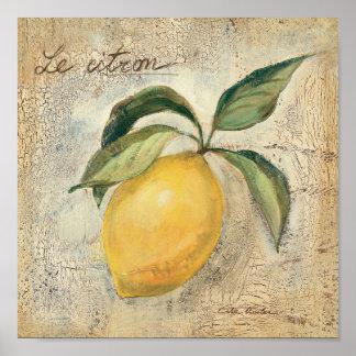 Poster Un fruit jaune de citron