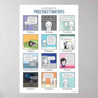 Poster Un guide de champ d'affiche de Procrastinators