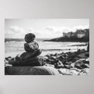 Poster Un peu du temps de zen (noir et blanc)