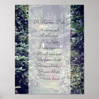 Poster Un poème étroit de ~ de chemin par le ~ de