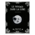 Poster Un voyage à la lune ou à la La Lune de dans de Le