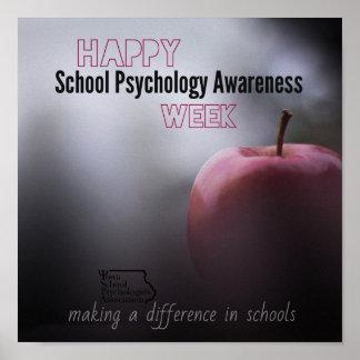 Poster Une affiche de porte de semaine de psychologie