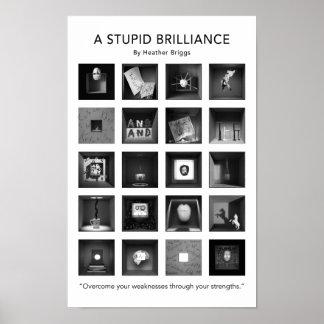 Poster Une affiche stupide 11x17 de brillant