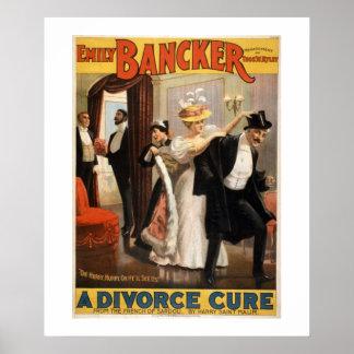 Poster Une affiche vintage de théâtre de traitement de di