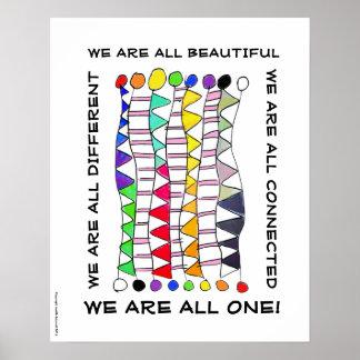 Poster Une de diversité célébration unique belle et