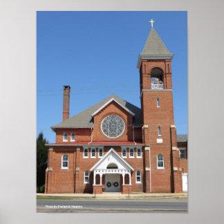 Poster Une église presbytérienne de la Pennsylvanie