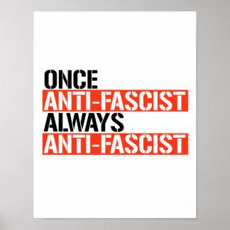 Poster Une fois que toujours Anti-Fascistes