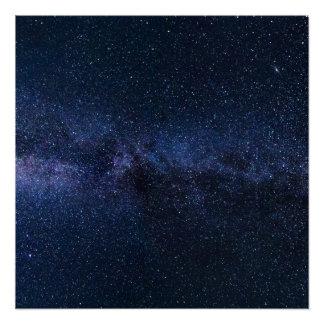 Poster Une galaxie des étoiles dans le ciel nocturne