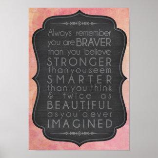 Poster Une inspiration plus futée et belle plus forte