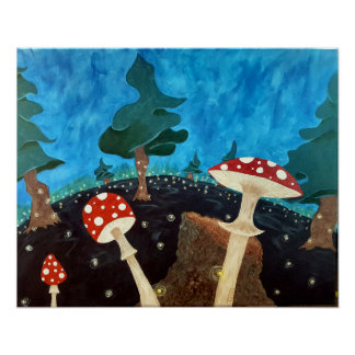Poster Une nuit trippy dans les bois