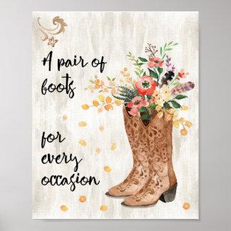 Poster Une paire de bottes pour chaque occasion