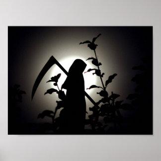 Poster Une pleine lune de récolte - le plaisir de Reaper