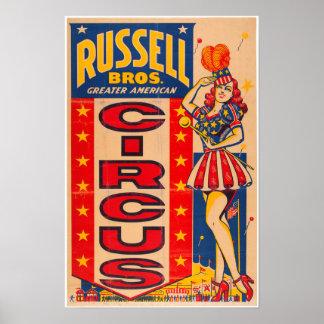Poster Une plus grande affiche américaine de cirque de