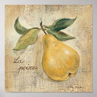 Poster Une poire jaune