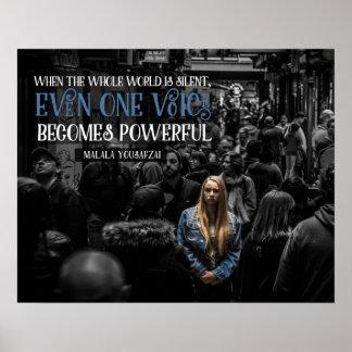 Poster Une voix devient puissante