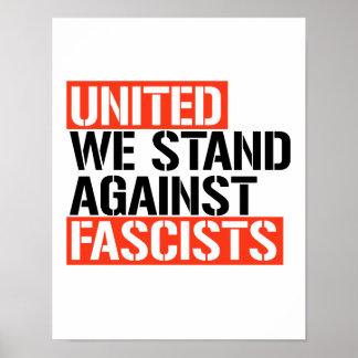Poster Uni contre tous les fascistes -