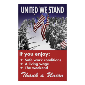 Poster Uni nous nous tenons -- Affiche de Pro-Union