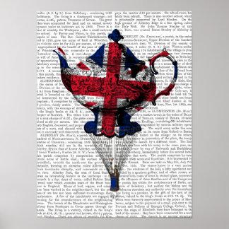 Poster Union Jack pilotant la théière
